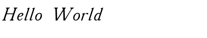 Preview of A431 Italic