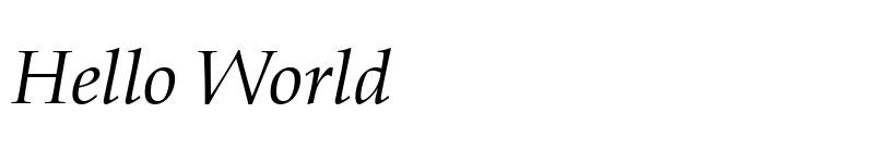 Preview of Book Antiqua Italic